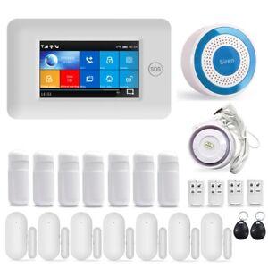 Wireless Full Touch Screen Gsm Wifi Smart Home Burglar Security Alarm System Uk Ebay
