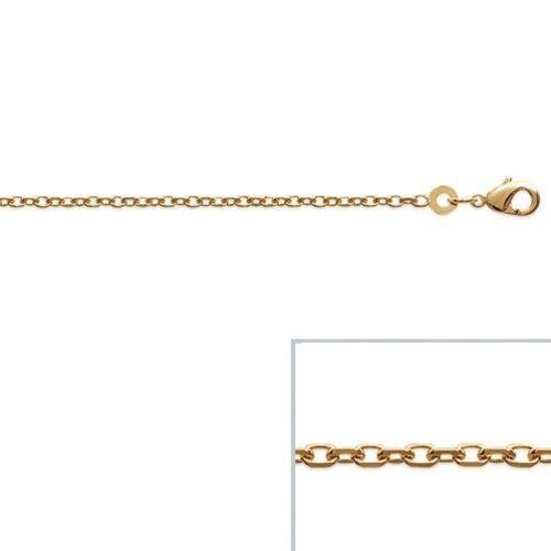 Chaine de cheville Plaqué OR 18 carats maille forçat Epaisse 1,7mm NEUF