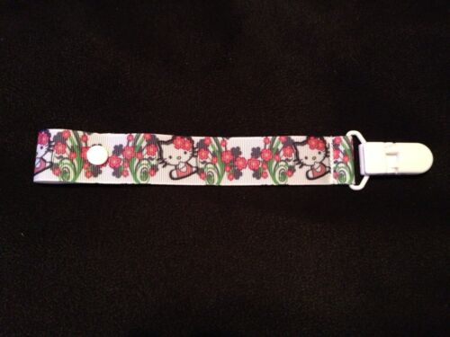 SUPER CUTE FLOWER HELLO KITTY PACIFIER HOLDER CLIP