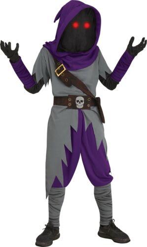 Gray//Purple Fun World Mage Fade in//Out Child Costume Fortnite Inspired Medium