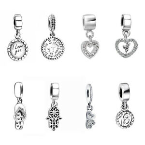 Fashion-925-Silver-Pendant-Charms-Bead-Dangle-For-Sterling-Bracelets-Necklace