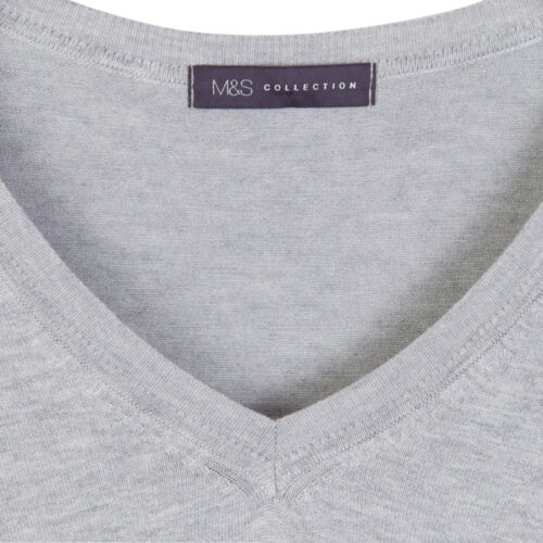 Marks /& Spencer Womens Fine Knit Soft V Neck Jumper New M/&S Sweater Pullover Top