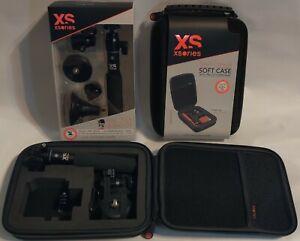 Black Vlog action Selfie Stick GoPro Universal Camera Magnet & Carrying Case