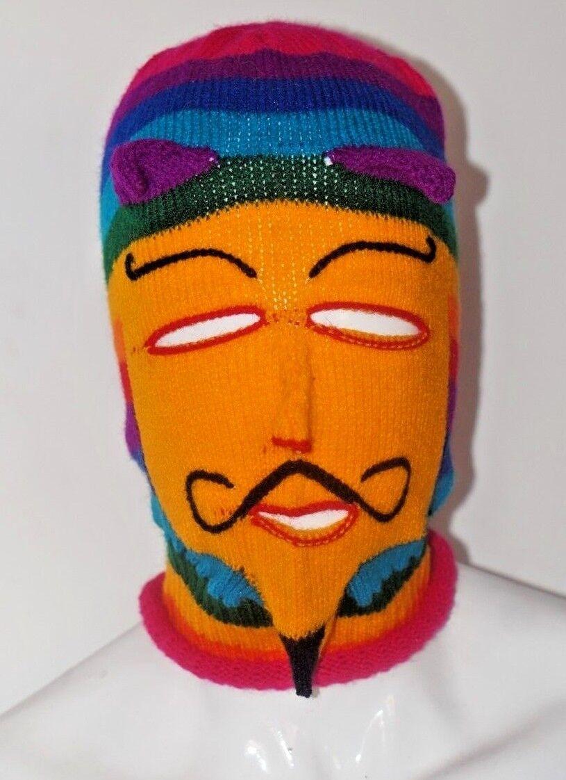 Peruvian Andean Carnival mask - made in wool - Puno carnival