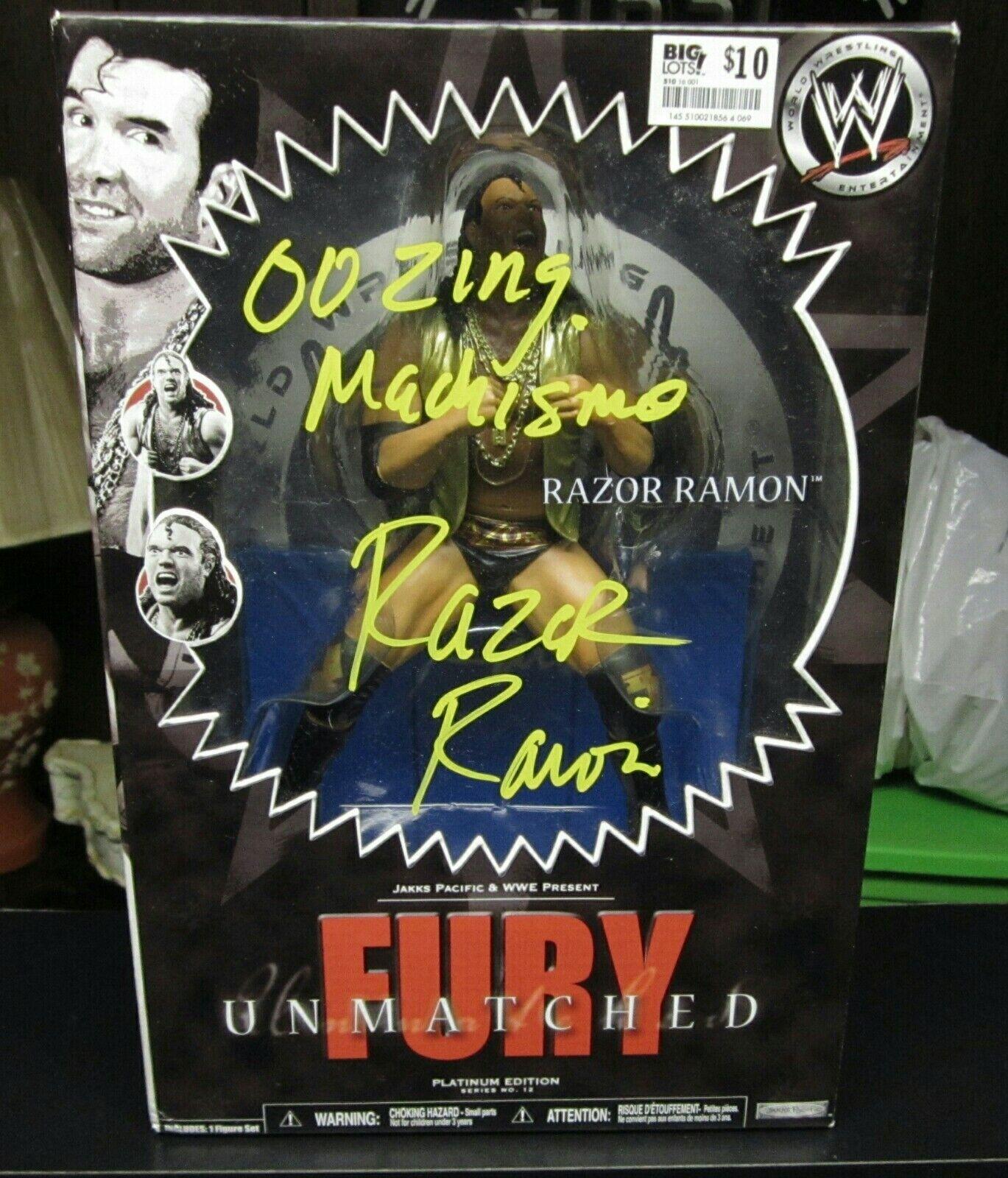 WWE UNMATCHED FURY RAZOR RAZOR RAZOR RAMON AUTOGRAPHED SIGNED cifra WWF NWO HOF WCW JAKKS 6364bf