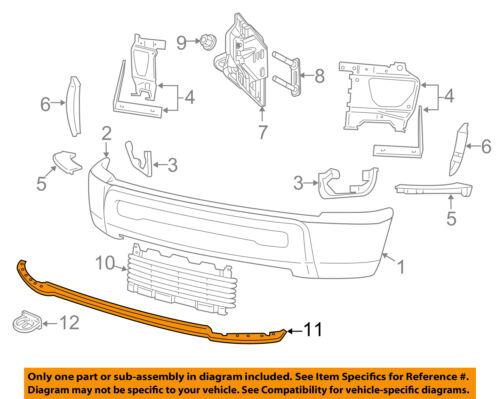 CHRYSLER OEM Front Bumper-Spoiler Lip Chin Splitter 68045708AA