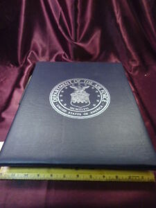 Details about 1947 Department Of The Air Force Retirement Binder For  Certificate-15
