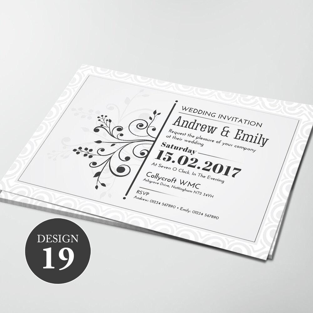 Personalizzata Inviti di Nozze giorno o di sera, libero buste buste buste di vendita sta per scadere 132150