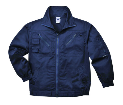Mens Action Jacket Work Coat Black /& Navy Multi Pockets Hardwearing Casual S862