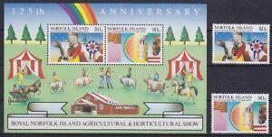 Norfolk-Block-8-u-371-372-Landwirtschaft-postfrisch-MNH