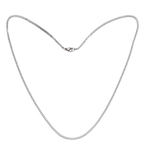 """316L Stainless Steel Thin 2mm Box Link 20/"""" Necklace Chain"""