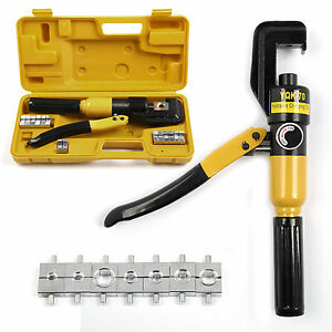 Hydraulic-Crimper-8T-Crimping-Tool-Tube-Terminal-Lug-Battery-Cable-Wire-durable