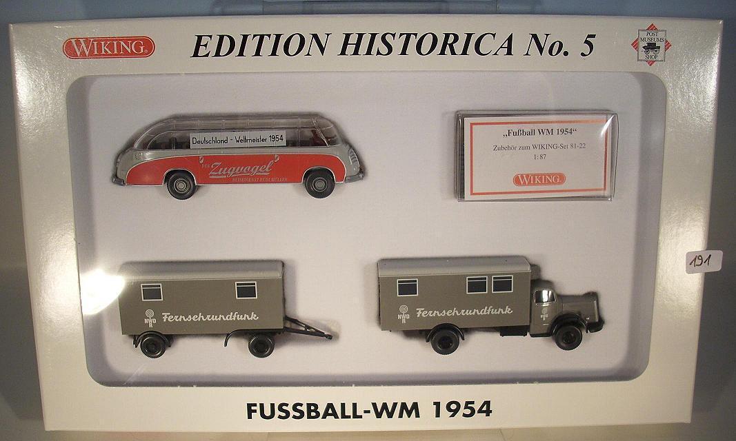 WIKING 1 87 Set Histórica No. 5 Football Coupe du Monde 1954 neuf dans sa boîte  191