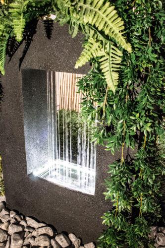 """Bepflanzbarer Rechteckiger Wasserfallbrunnen mit LED-Beleuchtung /""""Milano/"""" Garten"""