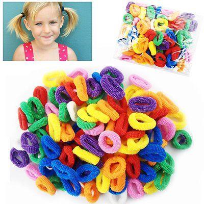 100 Mini Hair Ponios Ponios Endless Elastics Bobbles Bands Baby Girl Hair Bands