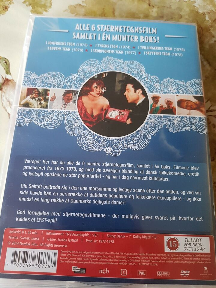 6 stjernetegnsfilm, DVD, andet