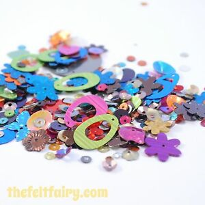 Mixed-Cup-Flat-and-Shaped-Sequins-100-Loose-Sparkling-Bright-Mixed-Sparkles