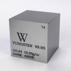 1-in-environ-2-54-cm-25-4-mm-Tungstene-metal-Cube-315-g-99-95-grave-tableau-periodique-W-specimen