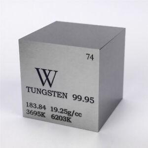 1 in (environ 2.54 cm) 25.4 mm Tungstène métal Cube 315 g 99.95% gravé  tableau périodique W spécimen | eBay