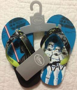Disney Flip Flops Disney Store Star Wars Rebel Sandals Boys Summer Shoes 9//10