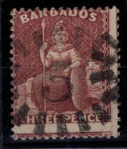 P133352/ BRITISH BARBADOS – SG # 35 USED SIGNED – CV 140 $