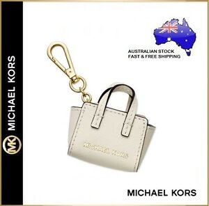 04852137cfff02 Michael Kors MK Selma Leather Mini Handbag Bag Charm Keyring Key ...