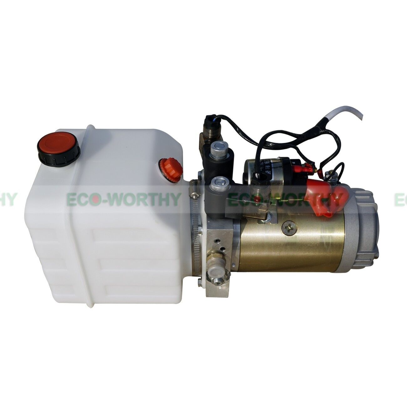 12v 3 quart tank double acting hydraulic pump power supply. Black Bedroom Furniture Sets. Home Design Ideas