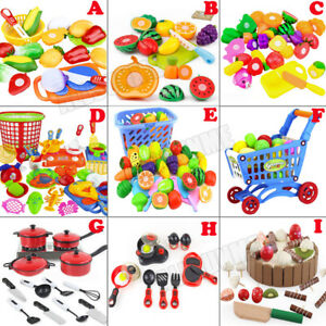 Cutting-Fruit-Vegetable-Kitchen-Pretend-Play-Children-Kid-Educational-Toy-Lots