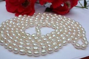 AA 8,5-9,5mm 46cm agua dulce perlas joyas collares Collier real joyas cadenas