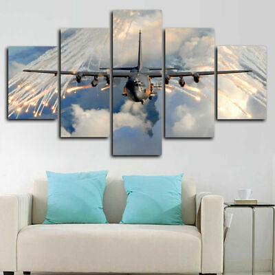 lockheed c130 hercules aircraft 5 piece canvas print