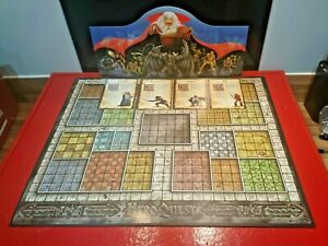 Heroquest Replacement Game Board Screen & 4 Character Cards Hero Quest Spares MB