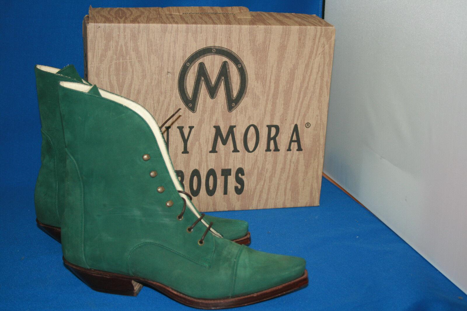 Tony Mora stiefelette grün westernstyle cowboystiefel Stiefel gr. 37 neu  leder