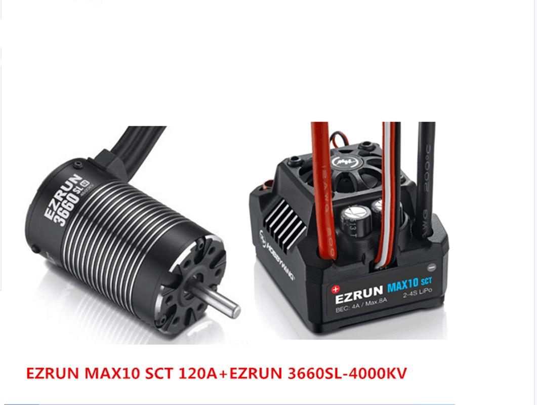 Hobbywing Ezrun Negro G2 3660SL motor sin escobillas 4000KV  120A Max10 SCT