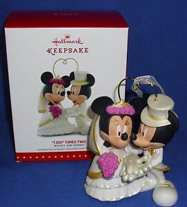 mickey minnie wedding cake topper 2 hallmark ornament cake topper i do times two 2015 mickey 17353