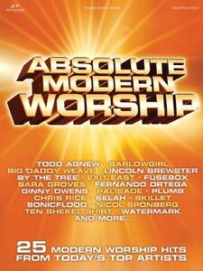 """absolute Modern Worship"" Music Book-piano/vocal/guitar Songbook-new On Sale!! Gagner Les éLoges Des Clients"