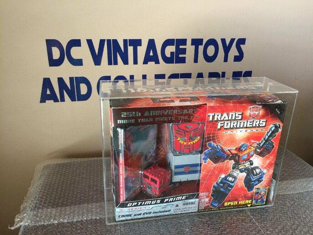 Transformers Universe 25th Anniversary G1 Series Optimus Prime New AFA U85