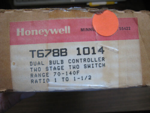 New Honeywell T678B1014 Dual Bulb Temperature Controller 70-140F Free Shipping