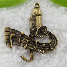 Free Ship 46 pcs bronze plated saxophone pendant 38x32mm #728