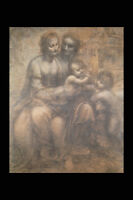 211055 Virgin And Child With St Anne & John The Baptist A4 Photo Print