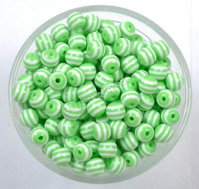 Wholesale Zebra-Stripe Acrylic Spacer Loose Beads 12 Colour 6MM 8MM 10MM 12 14MM
