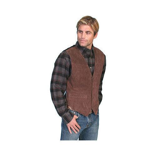Scully Men/'s   Boar Suede Snap Front Vest 504