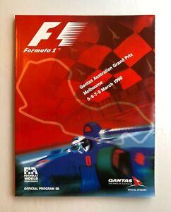 Official-FIA-Melbourne-F1-GP-1998-Australia-Programme-Schumacher-Coulthard-Hill