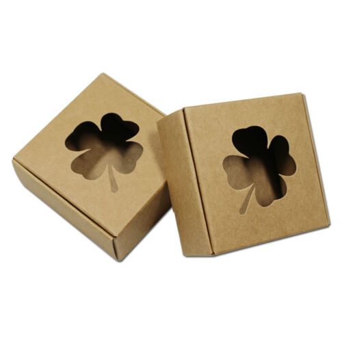 Hollow Kraft Paper Boxes Wedding Candy Soap Crafts Party Gift Jewelry Packaging