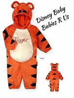Disney Baby Tigger Hooded Velour Halloween Costume Toddlers 6-9 M Or 9-12 M