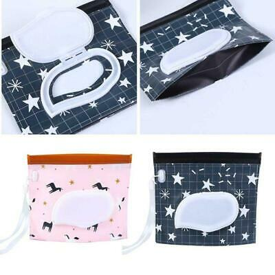 Black Star Baby Wet Wipe Pouch Travel Wipes Holder Case Reusable Wet Wipe Bag 6A