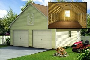 Build A 24 39 X 24 39 Garage With Loft Diy Plans Fun To