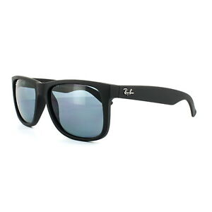 5cd8865242 Ray-Ban Sunglasses Justin 4165 622 2V Black Blue Polarized 55mm ...
