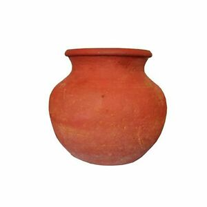 Indian traditional Earthenware Clay Drinking Water Pot Brown