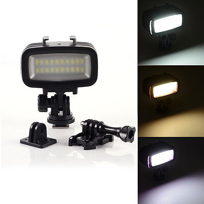 Underwater Waterproof Diving Video LED Spot Light for GoPro Hero 3 4 DSLR Camera