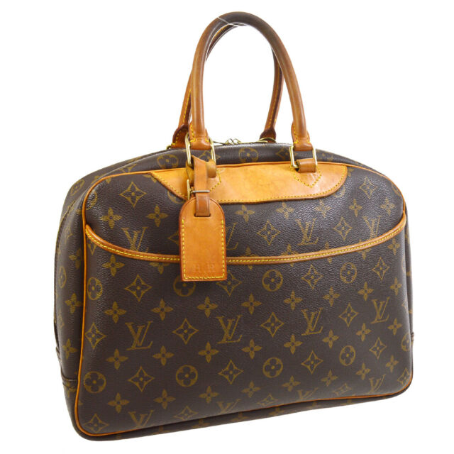 LOUIS VUITTON DEAUVILLE BUSINESS HAND BAG PURSE MONOGRAM CANVAS M47270 30641
